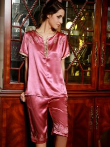 Womens Short Sleeve Pajamas