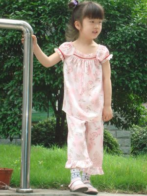 Silk Pajamas Set for Little Girls