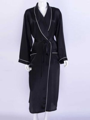 Women's Long Silk Robe US Size Customization Service Available