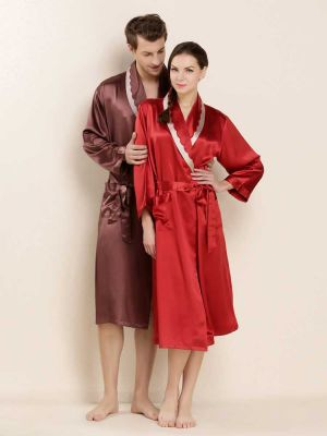 Luxury Couple Silk Robes