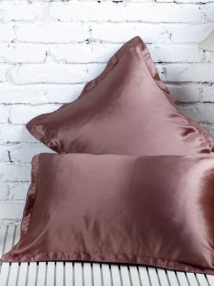 Silk PillowCase, Color Brown