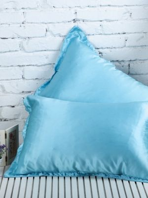 Silk PillowCase, Color Lake Blue