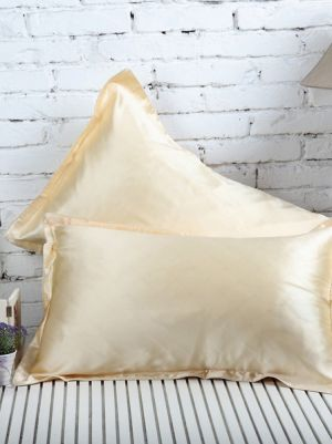 Pale Yellow Silk PillowCase