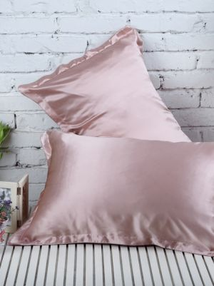 Dark Pink Silk PillowCase