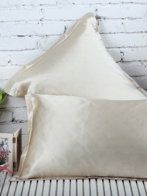 Beige Silk PillowCase