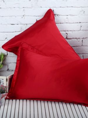 Red Silk PillowCase