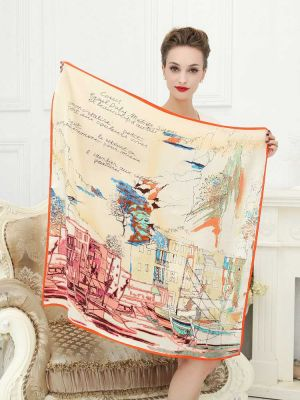New 100% Pure Silk Scarf Square Fashion Women Wrap