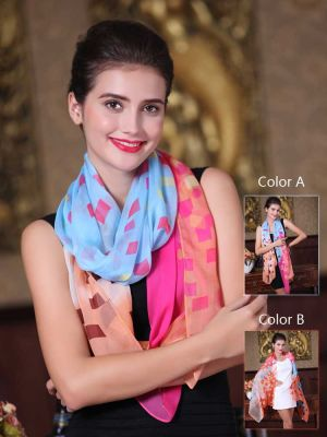 Women Fashion Stylish Soft Silk Chiffon Scarf Colorful Scarf Shawl