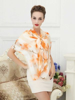 Women's 100% Luxury Long Silk Scarf