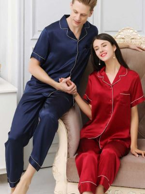 silk matching pajamas