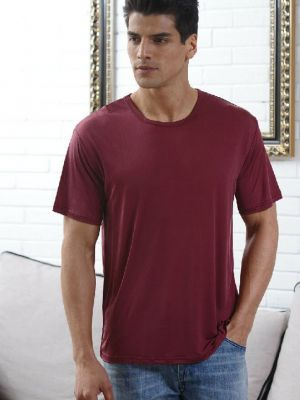 Red silk t shirt