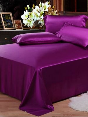 purple silk sheet
