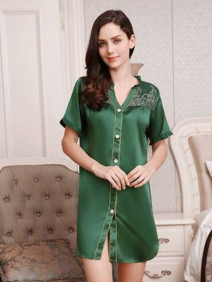 Luxury Silk Sleep Shirt Dress