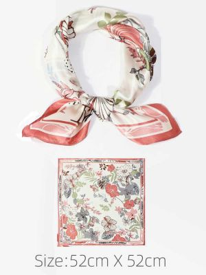 Silk Neckerchief Square Scarf For Lady
