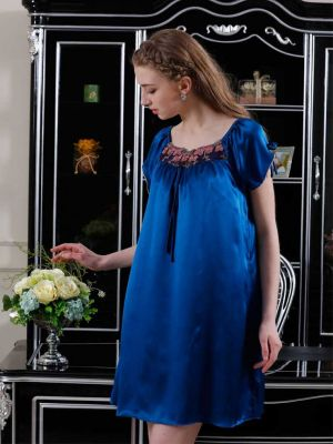 Blue silk nightdress