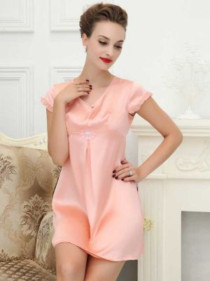 Pink Silk NightGown