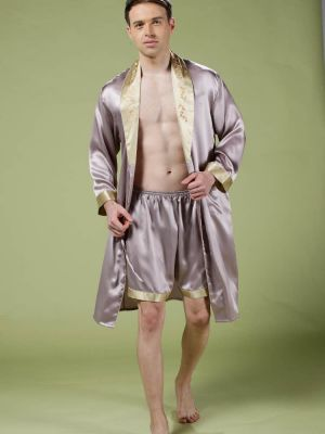 Silk Robe, Men Robe