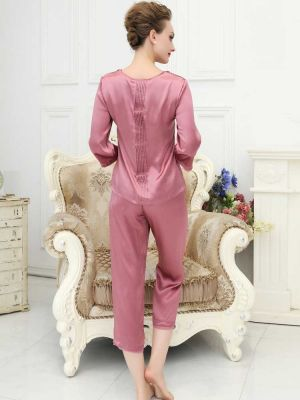 Lady silk pajamas