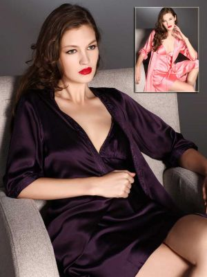 deep purple silk robe
