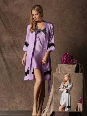 Pure Silk Chemise and Robe Set