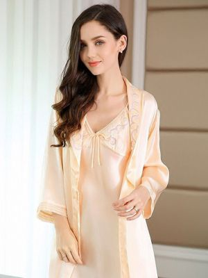 Silk Nightgown Bath Robe