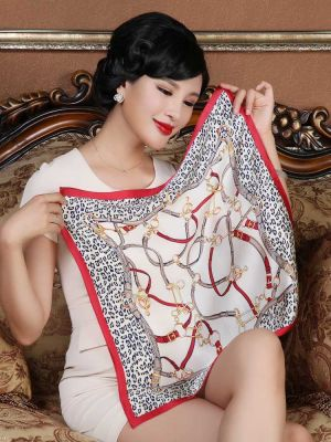Leopard Pattern Square Scarves