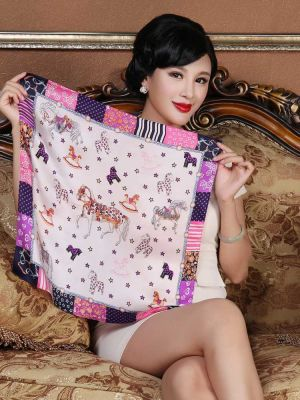 Small Square Silk Scarves