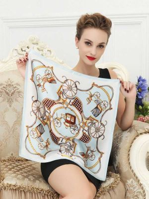 Soft Light Weight Silk Scarf Shawl for Ladies