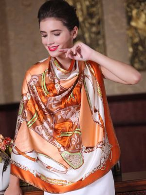 Large Square Silk Scarf YS07