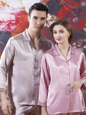 Couple Silk Pajamas