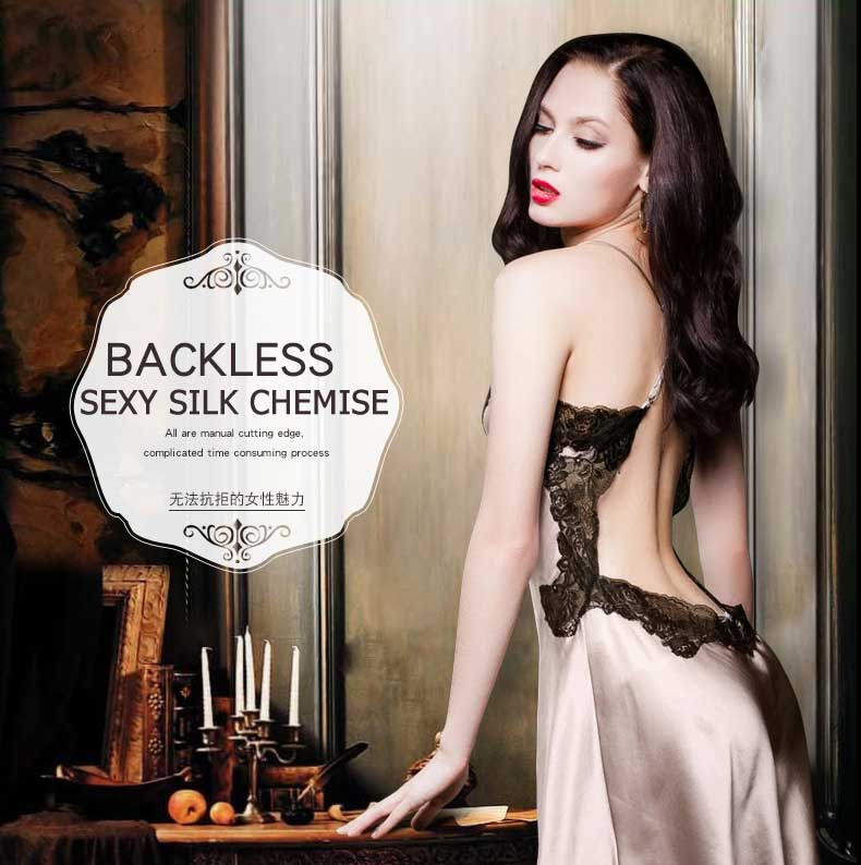 sexy blackless chemise, silk slips, silk sleepwear