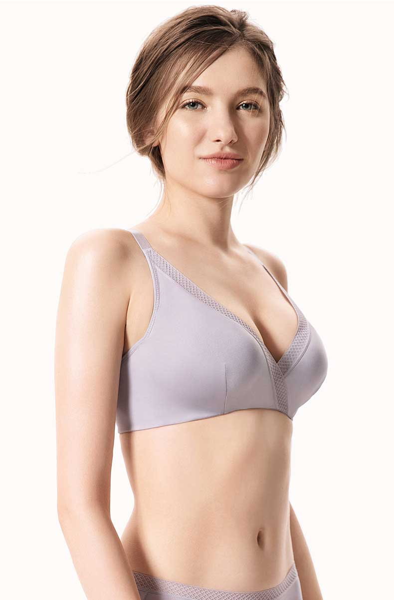 women natural silk bra